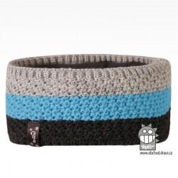 Čelenka pletená Rigi - vzor 09