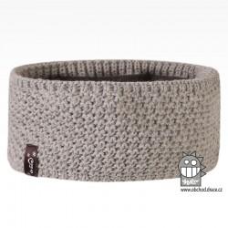 Čelenka pletená Rigi - vzor 13 - světle šedá