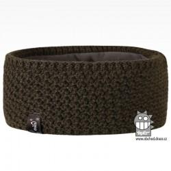 Čelenka pletená Rigi - vzor 15 - khaki