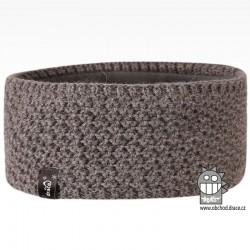 Čelenka pletená Rigi - vzor 14 - šedá