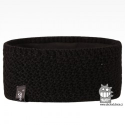 Čelenka pletená Rigi - vzor 16 - černá