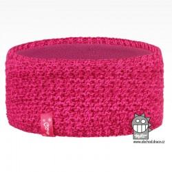 Čelenka pletená Rigi - vzor 21 - růžová neon