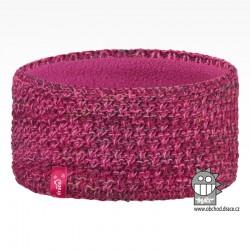 Čelenka pletená Rigi - vzor 23 - růžový melír