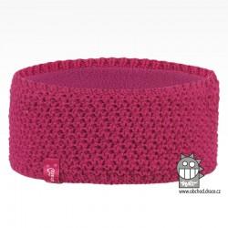 Čelenka pletená Rigi - vzor 24 - malina