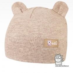Bavlněná kojenecká čepice Berry - vzor 11 - béžová
