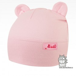 Bavlněná kojenecká čepice Berry - vzor 15 - světle růžová