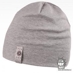 Bavlněná čepice Alan - vzor 03 - světle šedá