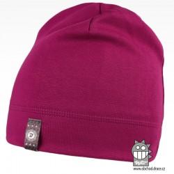 Bavlněná čepice Alan - vzor 06 - fialová