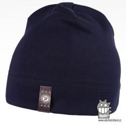 Bavlněná čepice Alan - vzor 09 - tmavě modrá