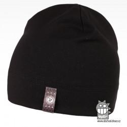 Bavlněná čepice Alan - vzor 10 - černá