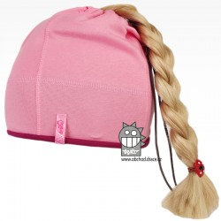 Bavlněná čepice na culík - vzor 06 - růžová