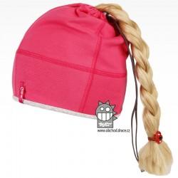 Bavlněná čepice na culík - vzor 07 - růžová neon