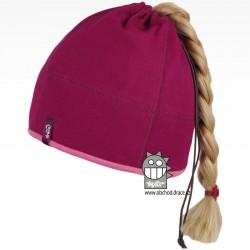 Bavlněná čepice na culík - vzor 09 - vínová