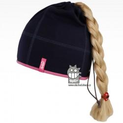 Bavlněná čepice na culík - vzor 10 - modrá tmavá