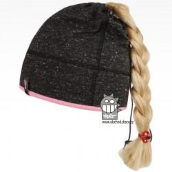 Bavlněná čepice na culík - vzor 11 - antracit melír