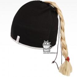 Bavlněná čepice na culík - vzor 12 - černá