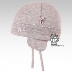Pája bavlněná kojenecká čepice - B01