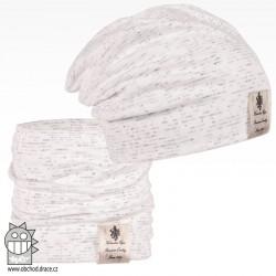Pastels DOUBLE set - vzor 25 - bílá / melír