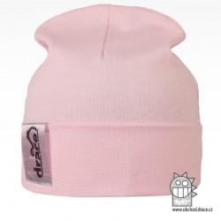 York Bavlněná čepice - vzor 01 - světle růžová