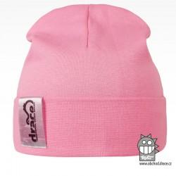 York Bavlněná čepice - vzor 02 - růžová