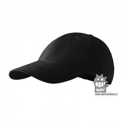 Kšiltovka dětská 6P - vzor 16 černá