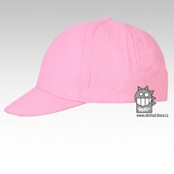 Kšiltovka dětská 6P  - vzor 01 - růžová