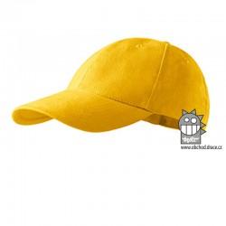 Kšiltovka dětská 6P - vzor 13 žlutá
