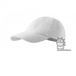 Kšiltovka dětská 6P - vzor 05 bílá