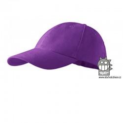 Kšiltovka dětská 6P - vzor 10 fialová