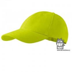 Kšiltovka dětská 6P - vzor 11 zelená limetová