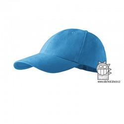 Kšiltovka dětská 6P - vzor 07 modrá azurová