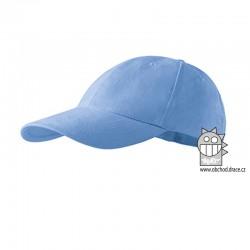 Kšiltovka dětská 6P - vzor 06 modrá nebesky