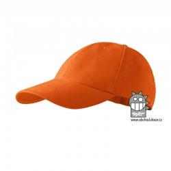 Kšiltovka dětská 6P - vzor 15 oranžová