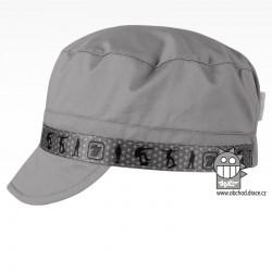 Kšiltovka Fidel - vzor 28 šedá