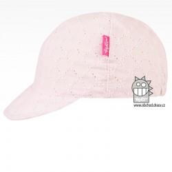 Kšiltovka Madeira - vzor 06 světle růžová, řetízek