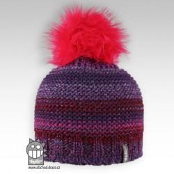 Čepice pletená Olivia - vzor 07