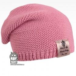 Pletená čepice Colors - vzor 04 - růžová