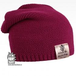 Pletená čepice Colors - vzor 06 - fialová