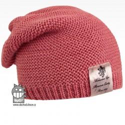 Pletená čepice Colors - vzor 09 - cihlová