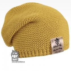 Pletená čepice Colors - vzor 11 - zelenozlatá