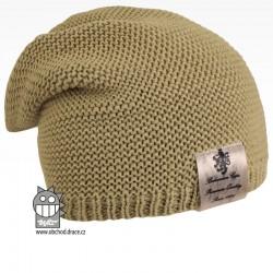 Pletená čepice Colors - vzor 14 - olivová