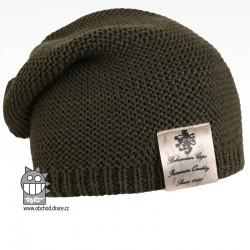 Pletená čepice Colors - vzor 20 - khaki