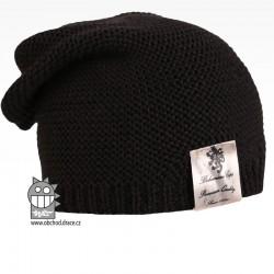 Pletená čepice Colors - vzor 24 - černá