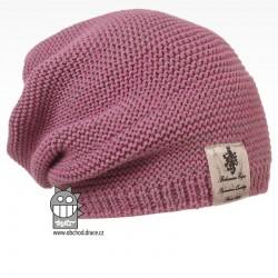 Pletená čepice Colors - vzor 27 - fialkovo šedá