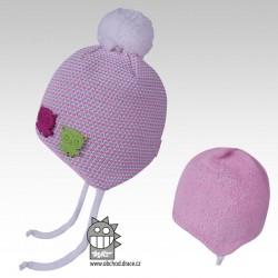 čepice pletená Elsa - vzor 04