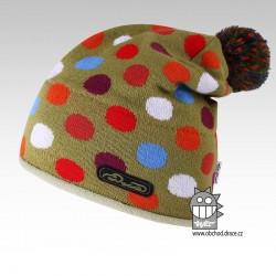 Čepice pletená lentilka - vzor 11