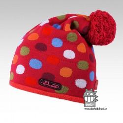 Čepice pletená lentilka - vzor 14