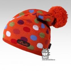 Čepice pletená lentilka - vzor 06