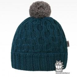 Merino pletená čepice Vanto - vzor 03 - petrol