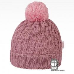 Merino pletená čepice Vanto - vzor 06 - fialková